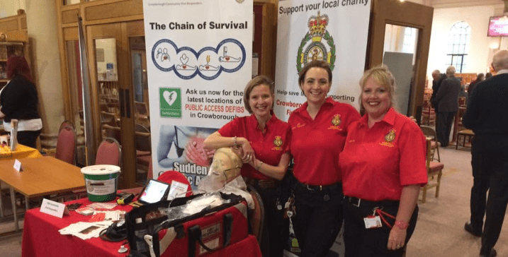 3 Community First Responders pose for a photo