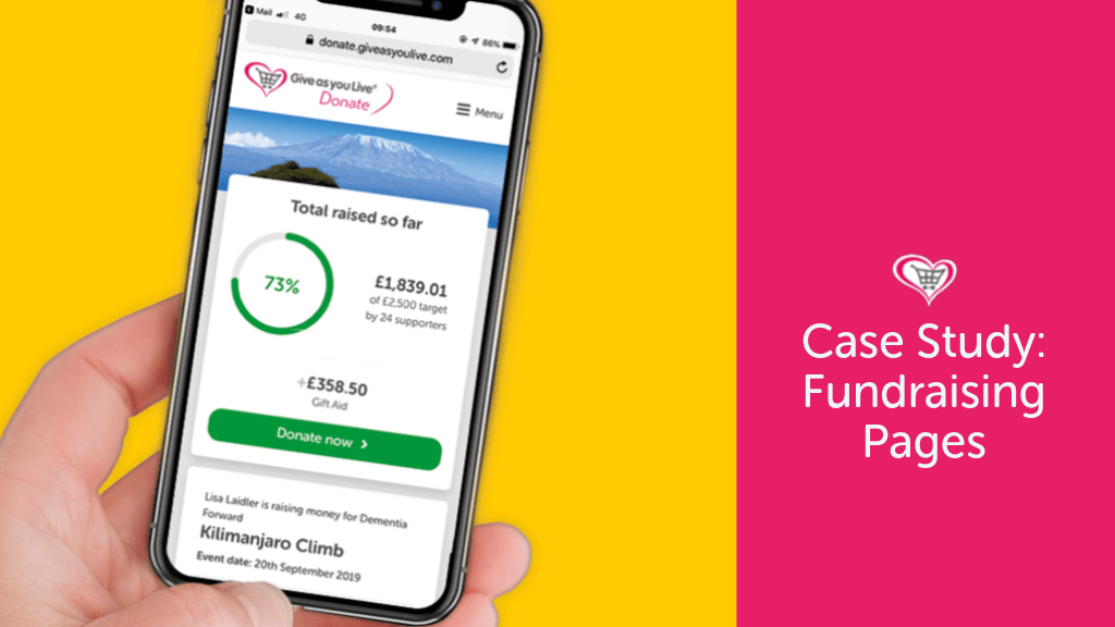 Case Study: Give as you Live Donate Fundraising Pages