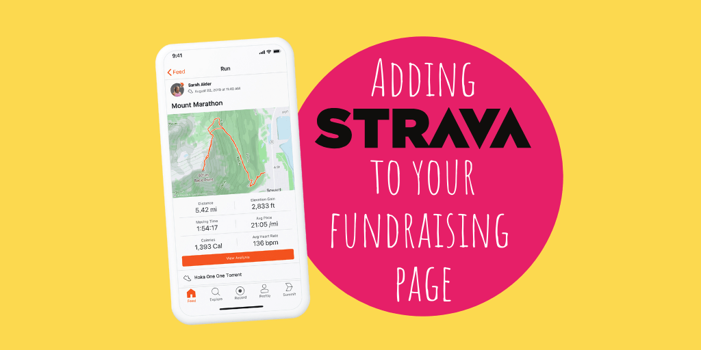 Adding Strava to your Fundraising Page