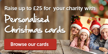 Raise up to £25 with personalised Christmas cards