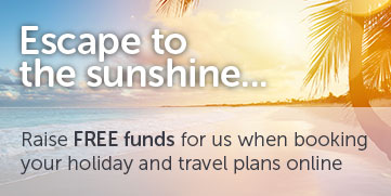 Raise free funds for charity when booking your holiday