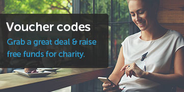 Raise free funds for charity and get a great deal with our voucher codes