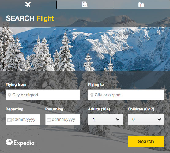 Compare winter holidays with Expedia