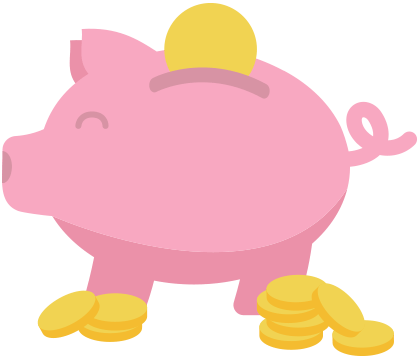 Piggybank with money