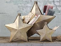 Handmade Brass Star Desk Tidy