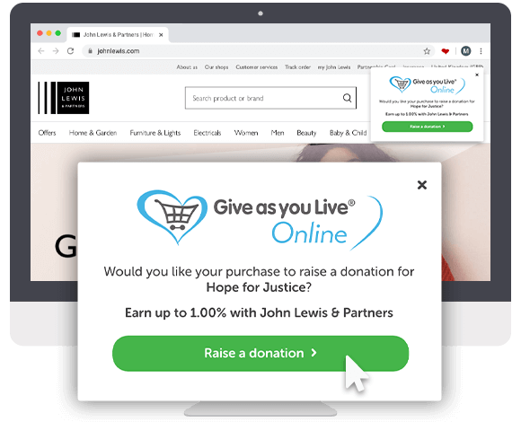 Give as you Live Donation Reminder