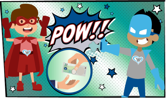 Pow! Raise £5 when you invite your friends!