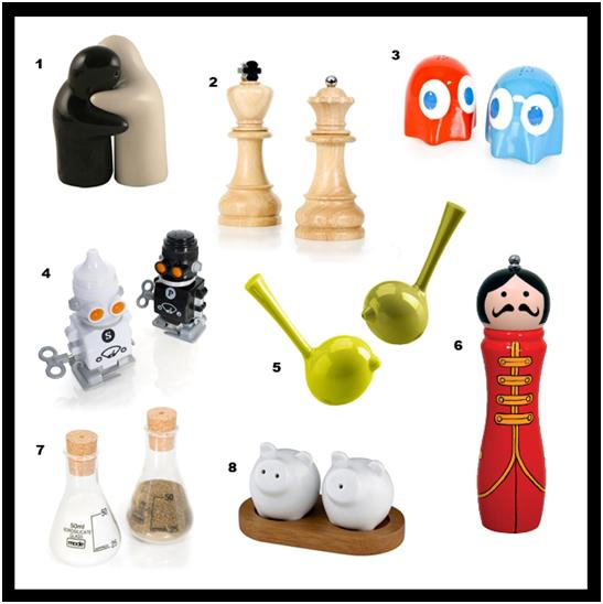 The top salt and pepper pots on the web featuring firebox Funky salt and pepper grinders