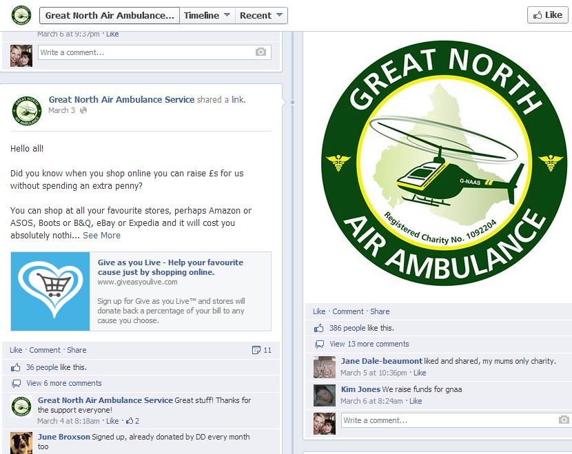 Air Ambulance Facebook