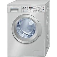 Bosch WAQ2836SGB Washing Machine with 8kg Load, 1400rpm Spin Speed (Stainless Steel)