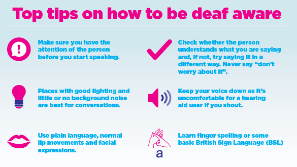 how to call a deaf person