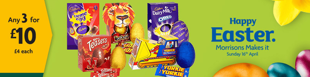 Have an egg cellent easter give as you live blog who fancies an egg cellent bargain with 3 for 10 on all easter chocolate eggs at morrisons surprise your kids loved ones or friends to a huge sweet treat negle Choice Image