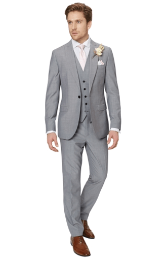 A Striking Style Statement That S Perfect For Your Day This Elegant Silver Three Piece Suit From French Connection Is Cut With Slim Fit Flatters