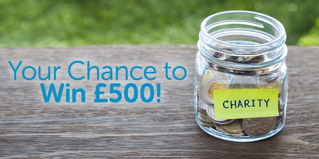 Win £500 for your charity this Q3!