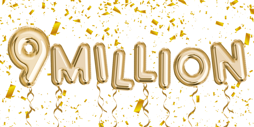 We've raised £9 Million!!