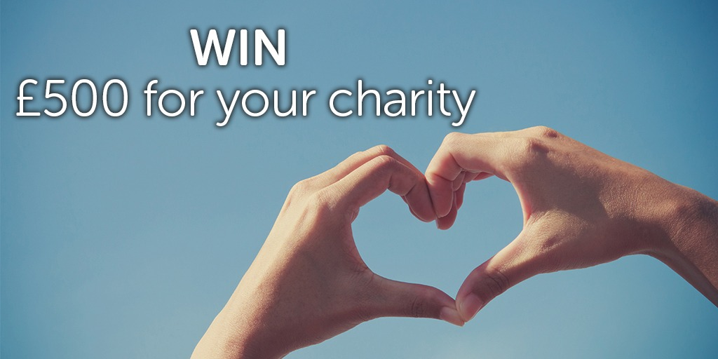 Win £500 to help your charity this Q2
