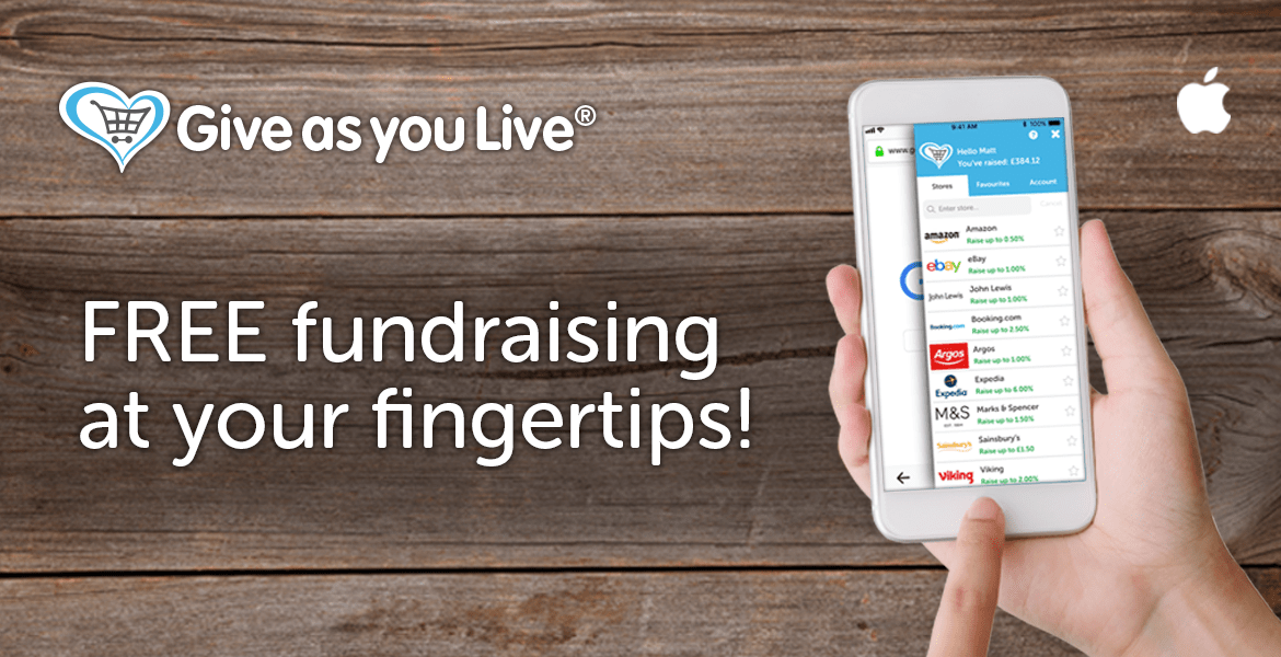 The Give as you Live app is here!